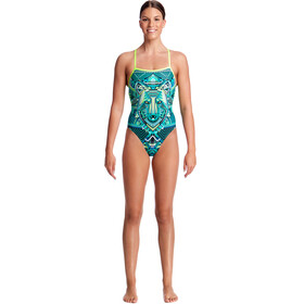 Funkita Strapped In One Piece - Bañador Mujer - Turquesa